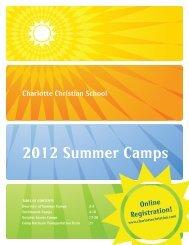 2012 Summer Camps - Charlotte Christian School