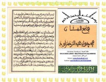 118. Fathul Mannaan - Daaraykamil.com