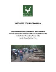 Request for Proposals (RFP) - SANParks