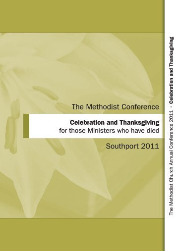 Celebration and Thanksgiving Order of Service - Methodist ...