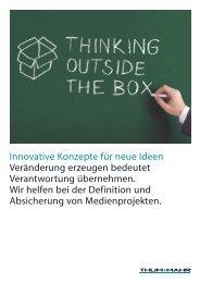 Innovative Konzepte für neue Ideen Veränderung ... - Thum+Mahr