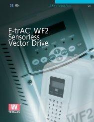 E-trAC® WF2 Sensorless Vector Drive - Federal Industrial Sales
