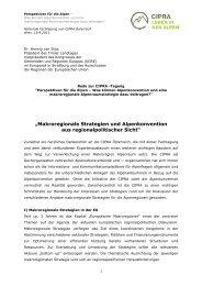 .;makroregionale Strategien und Alpenkonvention aus ...