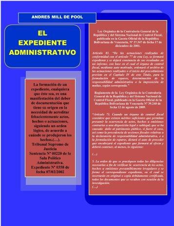 EL EXPEDIENTE ADMINISTRATIVO - Gestiopolis