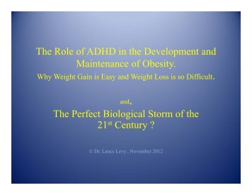 ADHD in creating and maintaining obesity - Caddac