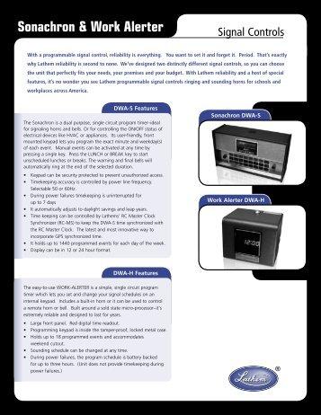 Sonachron Bell Ringer - Central Time Clock, Inc.