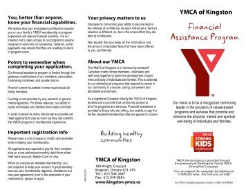 Financial Assistance Form Application - YMCA of the East Valley