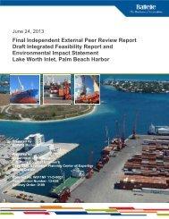 Lake Worth Inlet, Palm Beach Harbor, Feasibility Study
