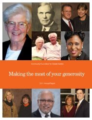 2011 Annual Report - Community Foundation for Greater Buffalo