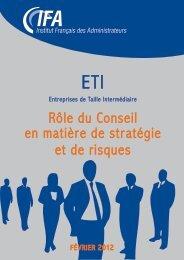 Role du conseil en matière de risques et de stratégie - Center for ...