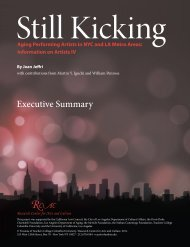 Still Kicking: Aging Performing Artists in NYC and LA Metro Areas ...