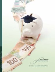 2012 SCHOLARSHIPS & BURSARIES - North Island College