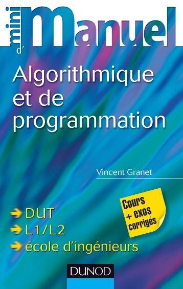Mini Manuel d'Algorithmique et de programmation - Dunod