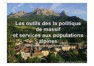 Les outils des la politique de massif et services aux populations ...