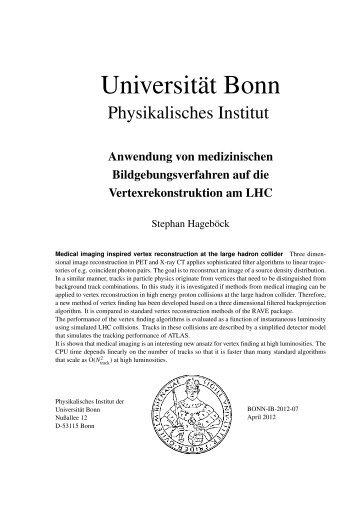 Prof. Dr. Norbert Wermes - Universität Bonn