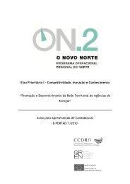 Promoção e Desenvolvimento da Rede Territorial de ... - O Novo Norte