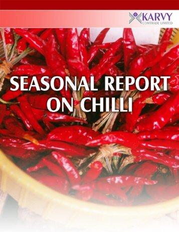 Short to medium term outlook on Chilli - Karvy Comtrade