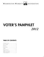 VOTER'S PAMPHLET 2012 - Washington Women's Foundation
