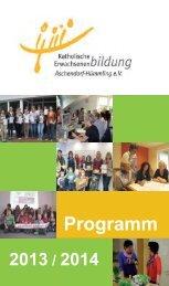 Programm - Katholische Erwachsenenbildung