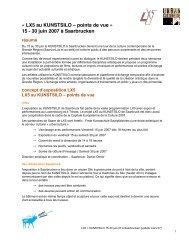 « LX5 au KUNSTSILO – points de vue » 15 - 30 juin 2007 à ...
