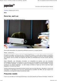 Dura lex, sed Lux - Economie et Finance au Luxembourg ... - L'Atelier