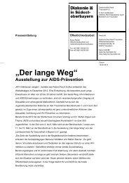 """""""Der lange Weg"""" - Diakonische Werk Traunstein eV"""