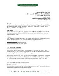October 9, 2006 Approved Minutes - Community Advisory Council to ...