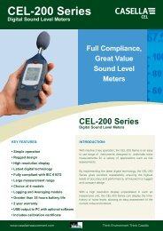 Casella CEL-200 Series Sound Level Meters - Thermo Fisher
