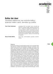 Kultur der duer - Akademisk kvarter - Aalborg Universitet
