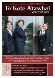 Te Kete Atawhai Volume 2 Issue 3 July 2013 - Sisters of Mercy of ...