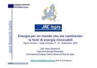 Energia per un mondo che sta cambiando: le fonti di energia ...