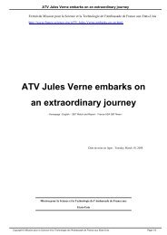 ATV Jules Verne embarks on an extraordinary journey