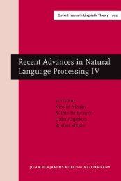 Recent Advances in Natural Language Processing IV : Selected ...