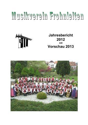 Jahresbericht 2012 - Musikverein Frohnleiten