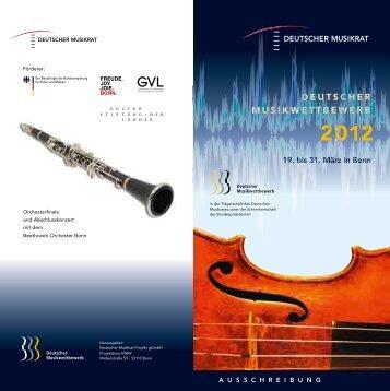 Herausgeber - Zum Musikrat - Deutscher Musikrat