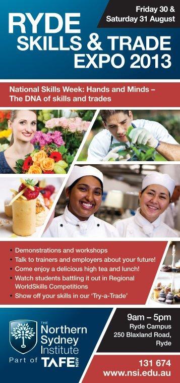Ryde Skills and Trade Expo 2013