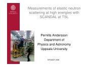 Measurements of elastic neutron scattering at high ... - efnudat