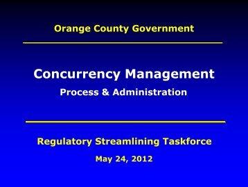 Concurrency Management - OrangeCountyFl.net