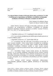 Grozījumi Ministru kabineta 2010.gada 28.decembra noteikumos Nr ...