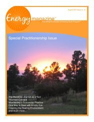 August 2007: Special Practitionership Issue - Energy Magazine
