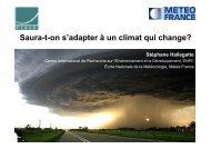Saura-t-on s'adapter au changement climatique ? (pdf 15.6 Mo)