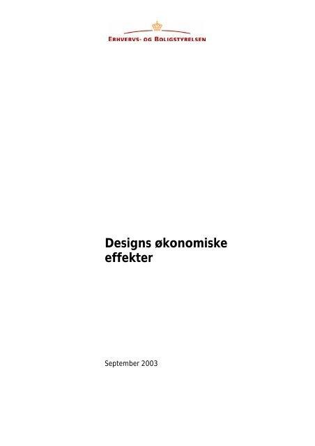 Designs økonomiske effekter - Erhvervsstyrelsen
