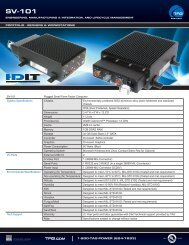 TAG Portfolio: SV-101 Datasheet - TAG.com