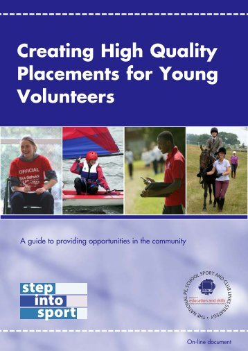 Creating High Quality Placements for Young Volunteers - VicSport
