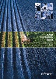 Bunge Sustainability Report