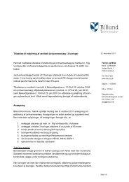 Tilladelse til etablering af vertikalt jordvarmeanlæg - Billund Kommune