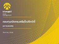 KF-EUROPE selling kits - Krungsri Asset Management Co., Ltd ...