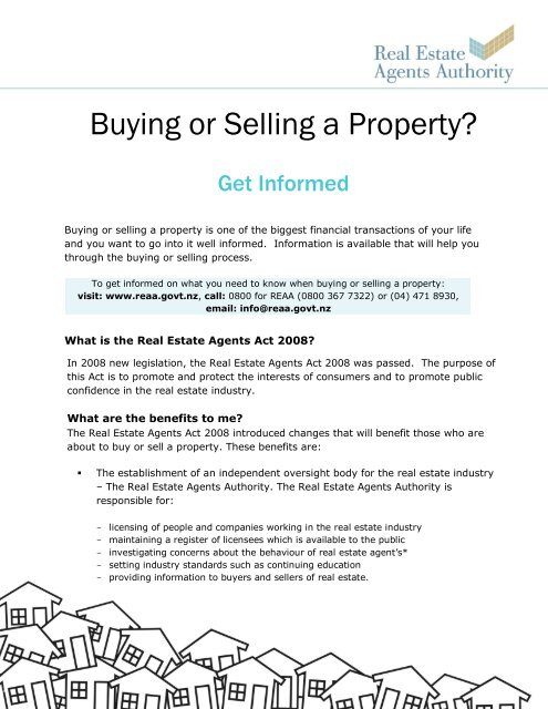 Buying or Selling a Property? - Real Estate Agents Authority
