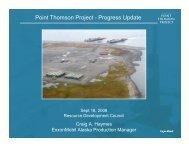 Point Thomson Project - Resource Development Council