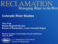 Colorado River Studies - The Western Coalition of Arid States